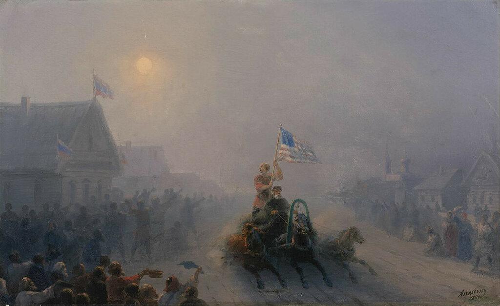 Айвазовский «Раздача продовольствия» (1892)
