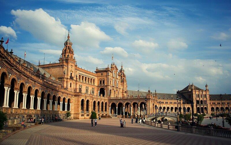 Севилья...Площадь Испании...