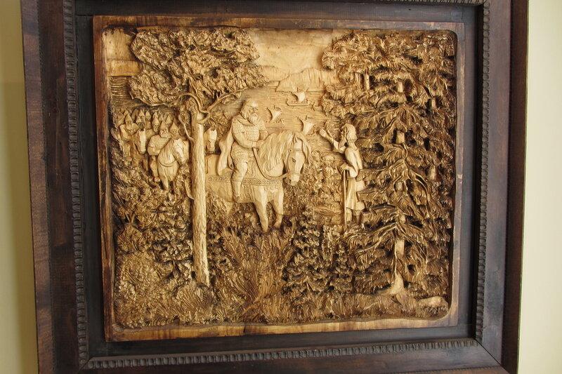 Резные деревянные картины