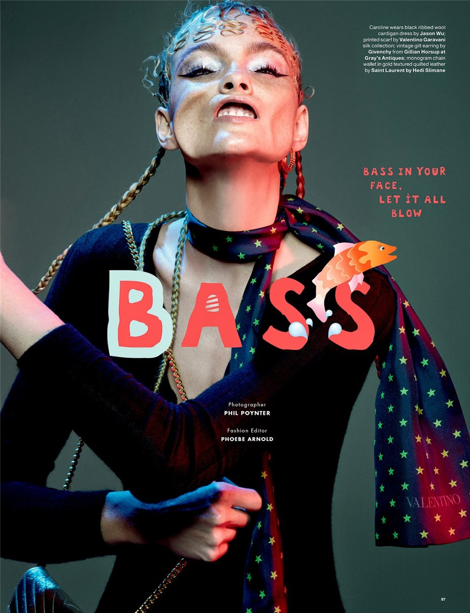 Caroline Trentini / Bass by Phil Poynter - Love 12 / FW2014
