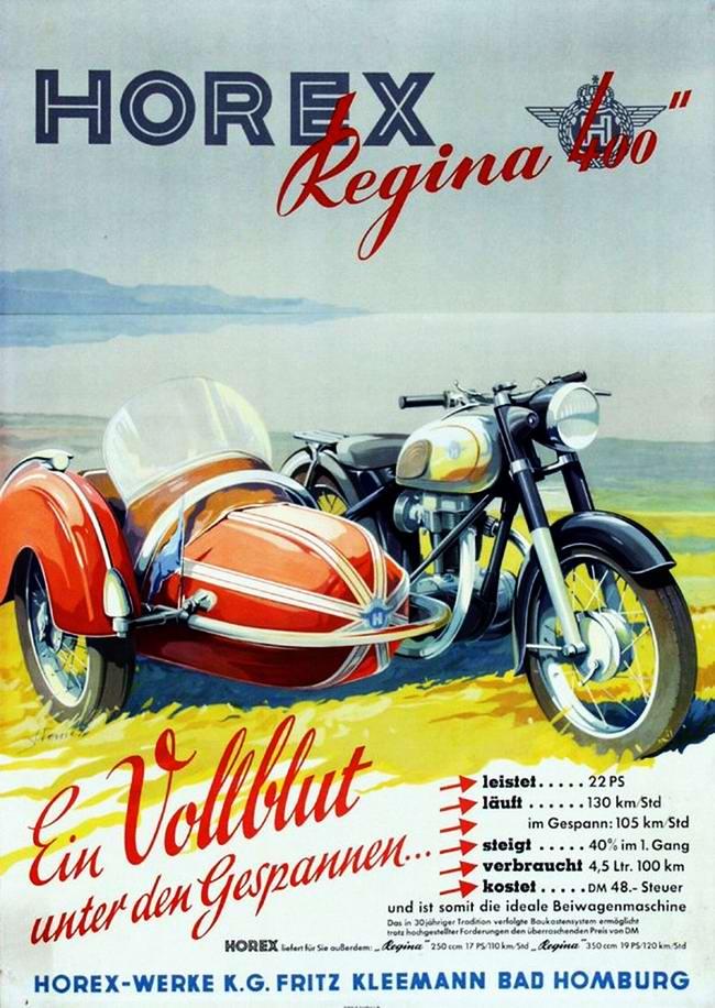 Horex Regina 400 - Германия (1953 год)