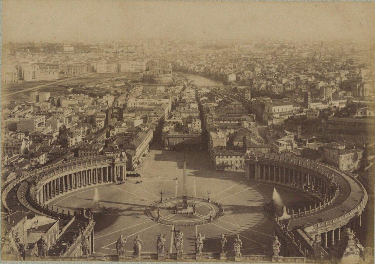 Площадь Святого Петра Ватикан. 1875.