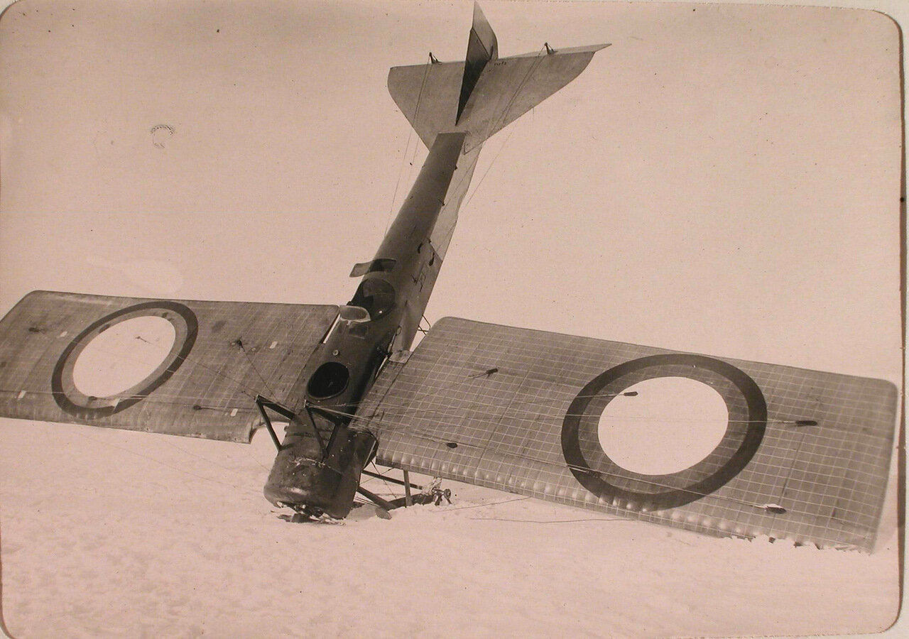 30. Вид летательного аппарата Депердюсен в момент неудачного приземления