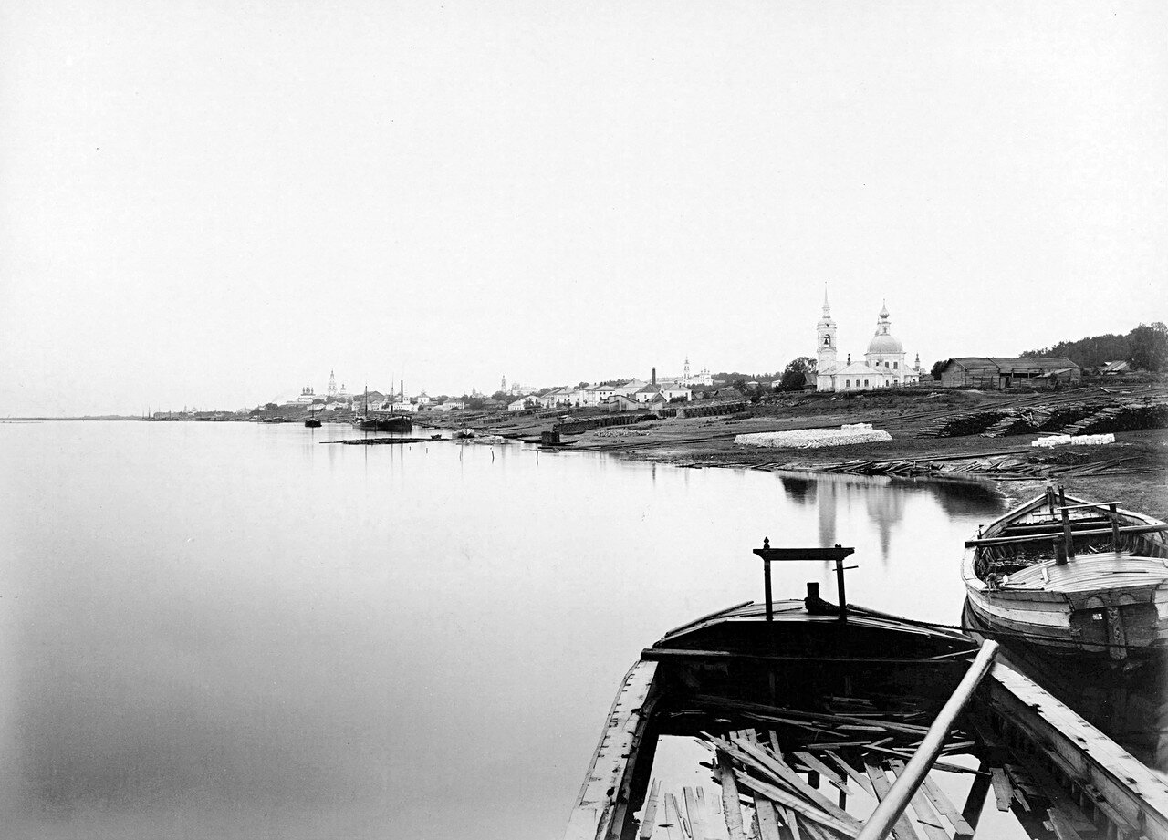 Вид с Волги. Церковь Стефана Сурожского. 1890