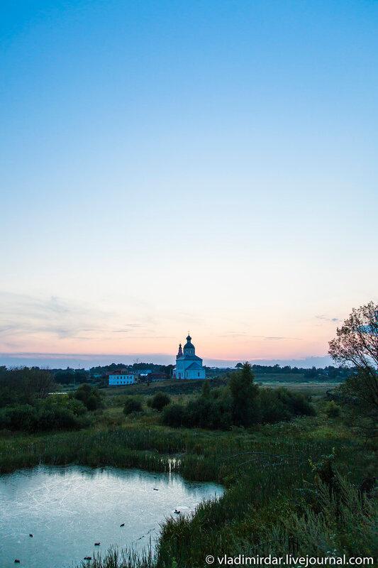 Закат над Ильинским лугом в Суздале