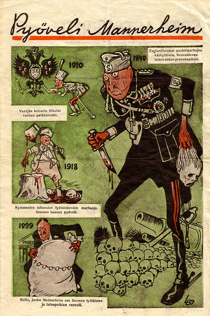 Маннергейм - палач финского народа!, линия Маннергейма