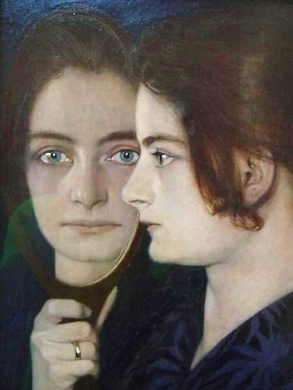 Зеркальное отображение. 1900, Оскар Цвинчер (1870-1916), Германия