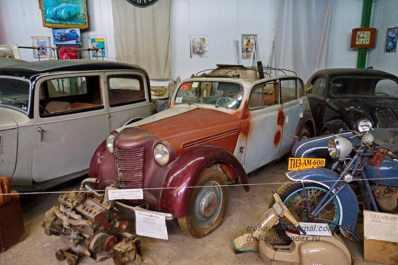 Москвич 400-420А Кабриолет, 1955 г. Ломаковский музей старинных автомобилей и мотоциклов, Москва