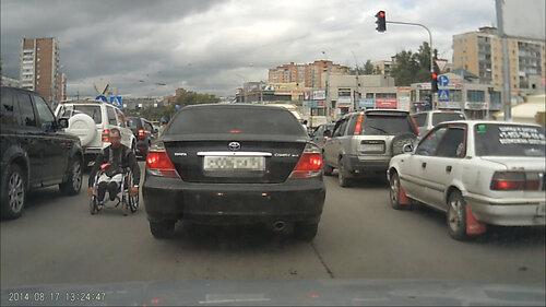Инвалид на дороге