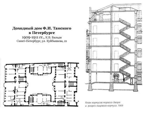 Доходный дом Ф.И. Танского в Петербурге, чертежи