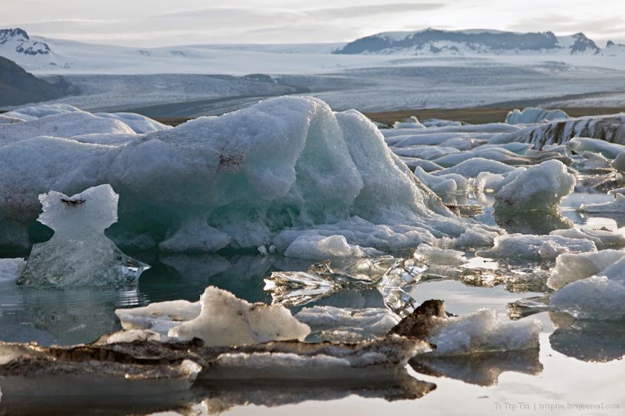 10. Тихий вечер у Ледниковой лагуны.