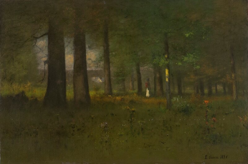 Edge of the Forest, oil on canvas, 1891
