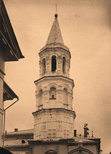 Вид колокольни Борисоглебского собора в Борисоглебском монастыре,основанном в 1038 г.(собор постройки 1785 -1796 гг.) Тверская губ.