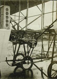 Вид мотора Орликон, установленного на биплане конструкции инженера Касяненко