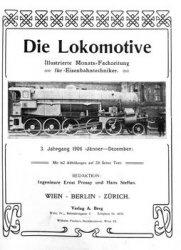 Журнал Die Lokomotive 3.Jaghrgang (1906)