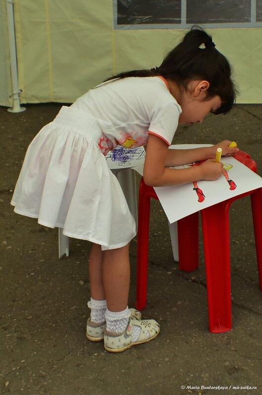 Праздник с участием ростовых кукол, Саратов, сад 'Липки', 23 августа 2014 года
