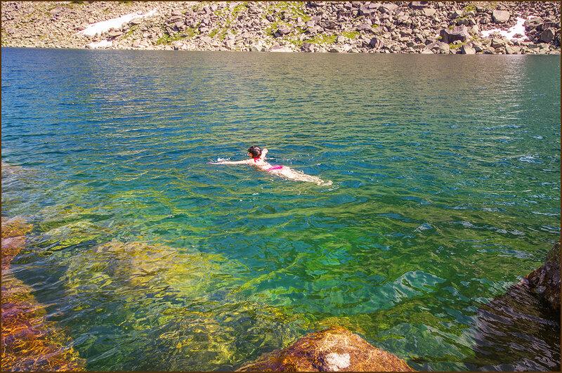 Купаемся в озере Горных Духов