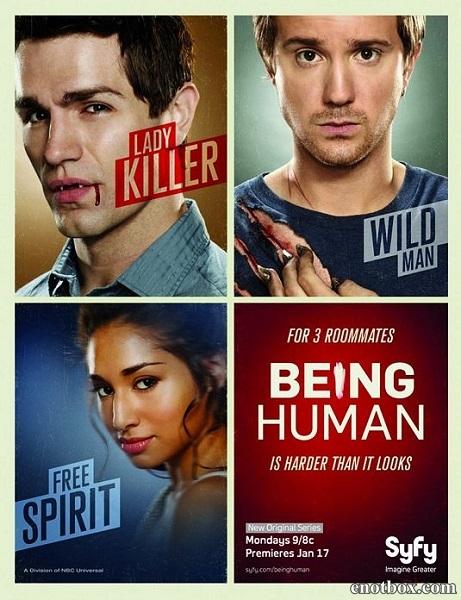 Быть человеком (USA) (1-4 сезон: 1-52 серия из 52) / Being Human / 2011-2014 / ПМ (LostFilm) / WEB-DLRip