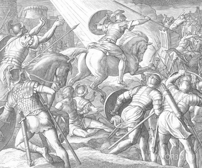 156 Ангел Господень ведёт Израиль против врага.jpg