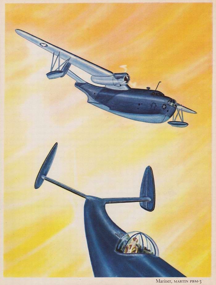 Martin PBM-3 Mariner - бомбардировщик, противолодочный и спасательный самолет<