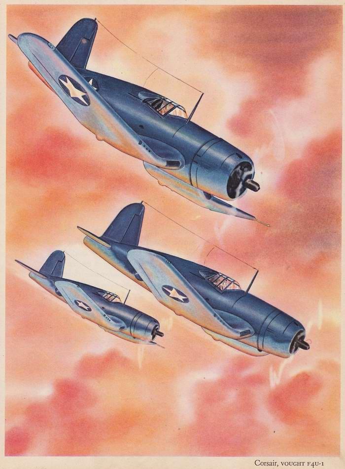 Vought F4U-1 Corsair - палубные истребители