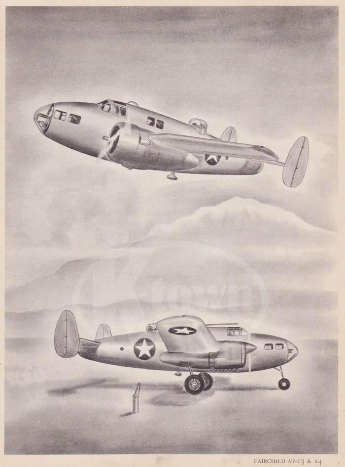 Fairchild AT-13 и Fairchild AT-14 - учебно-тренировочные самолеты