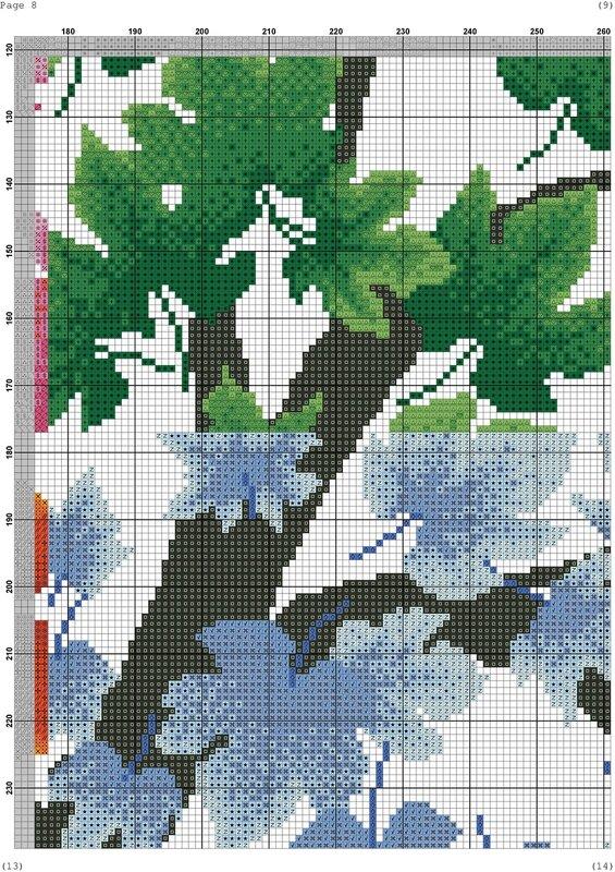 Сезоны деревья вышивка
