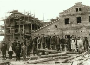 Строительство мукомольного завода (1913 г.)