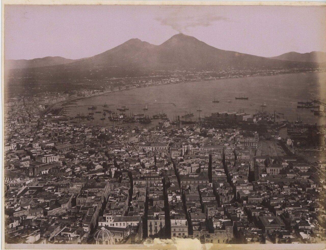 1880. Панорама города с видом Везувия