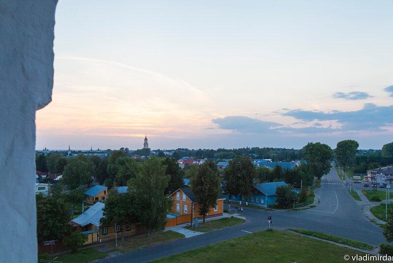 Суздаль - вид с колокольни Васильевского монастыря