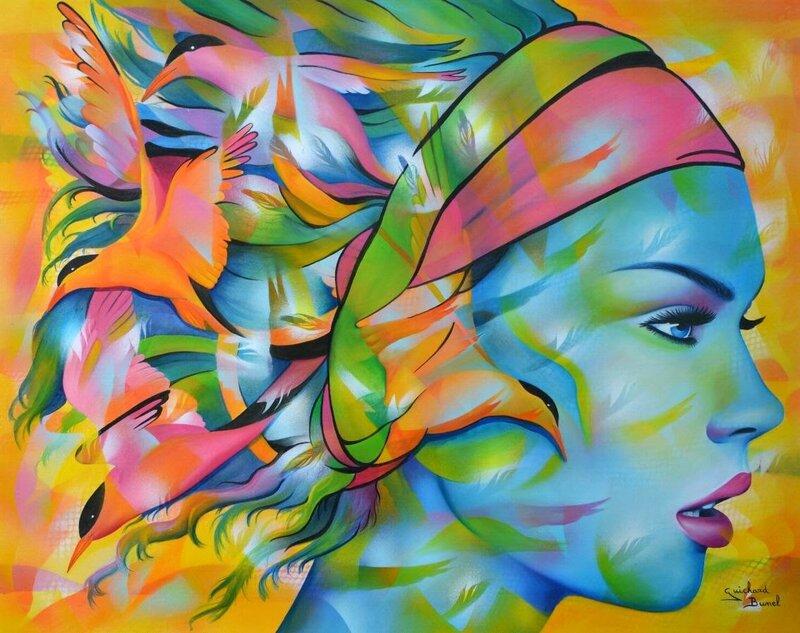 Радужный АРТ- Jeannette Guichard-Bune. Lady bird2.jpg