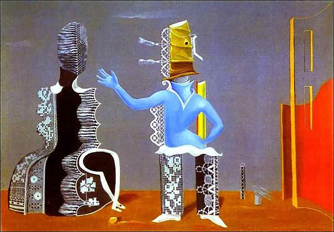 Пара или пара в кружевах. 1925 Макс Эрнст (1891-1976);