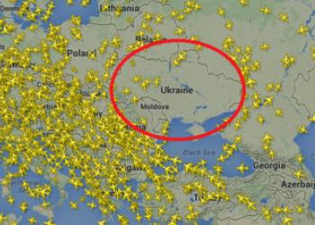 Как сейчас выглядит воздушное пространство над Украиной