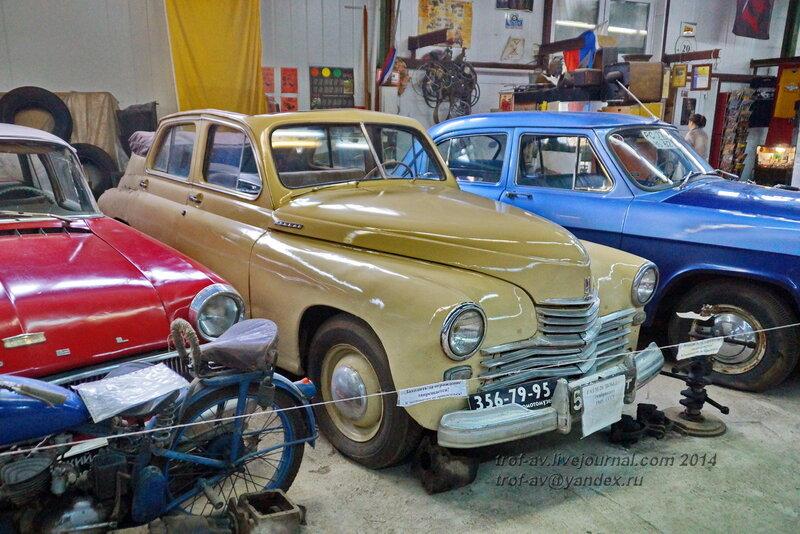 ГАЗ М-20 Победа кабриолет, 1949 г. Ломаковский музей старинных автомобилей и мотоциклов, Москва