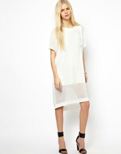 Платья с прозрачным подолом
