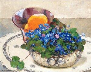 1951_Натюрморт с синими цветами и апельсинами_33 x 41_д.,м._Частное собрание.jpg