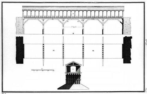 Ponte Vecchio, Bassano / Ponte degli Alpini, архитектор Андреа Палладио, чертежи