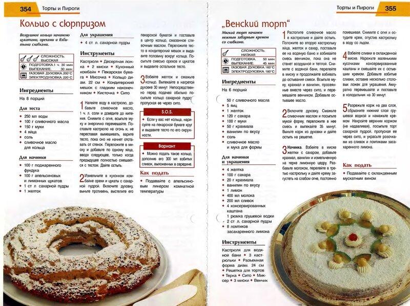 Рецепты торты пироги