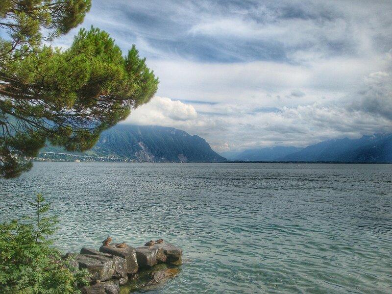 Женевское озеро Монтрё