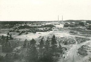 Общий вид территории стекольного завода Северного стекольно-промышленного акционерного общества.