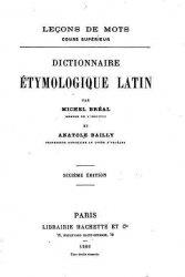 Книга Dictionnaire étymologique Latin