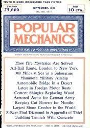 Журнал Popular mechanics №9 1906
