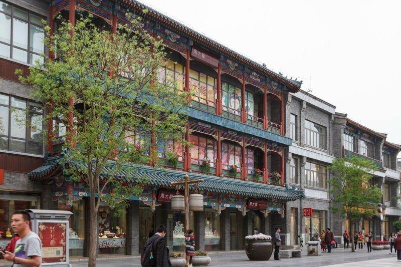 Магазины, улица Цяньмэнь, Пекин