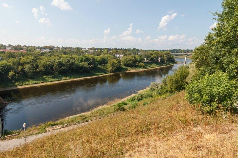 """Волга и """"Новый"""" мост, Ржев"""
