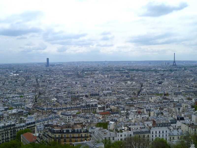 Париж, вид с базилики Сакре-Кер (Paris, view from Sacre Coeur)