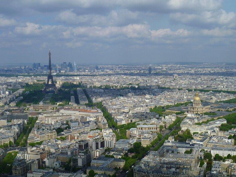Париж, вид с небоскреба Монпарнас (Paris, view from Montparnasse skyscraper)