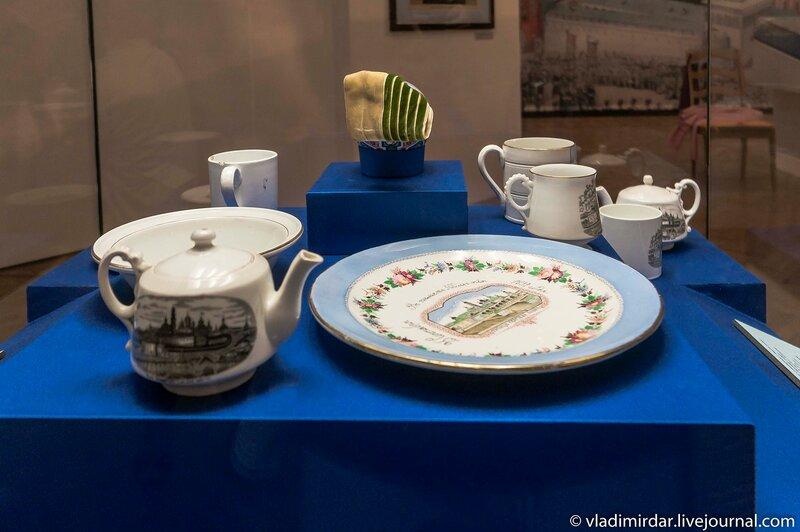Тарелки и чашки сувернирные в память о 500-летия преставления преподобного Сергия Радонежского