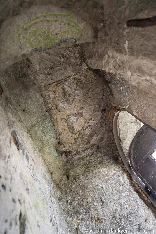 Свод площадки сторожевого поста Храма Преображения