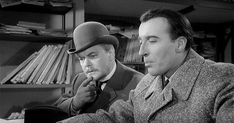 1962 Шерлок Холмс и смертоносное ожерелье. В роли Холмса Кристофер Ли.jpg