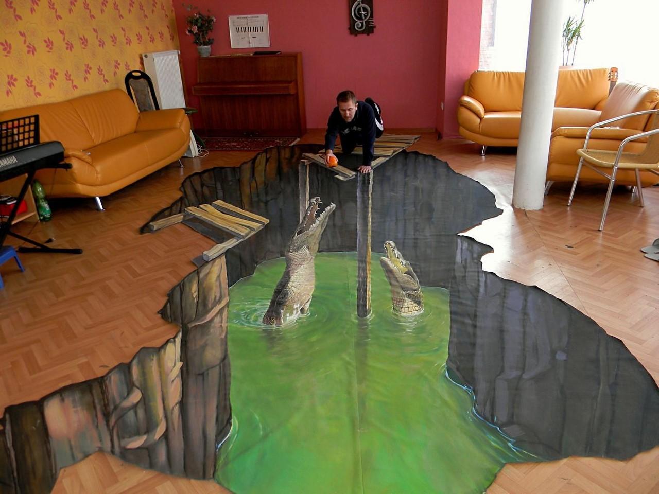 3д рисунки в комнате фото